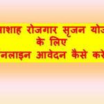 राजस्थान भामाशाह रोजगार सृजन योजना|ऑनलाइन आवेदन \एप्लीकेशन फॉर्म