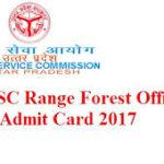 उत्तर प्रदेश फॉरेस्ट रेंज ऑफिसर एडमिट कार्ड 2020
