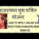 राजस्थान शुभ शक्ति योजना| ऑनलाइन आवेदन| एप्लीकेशन फॉर्म