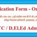 UP BTC D.El.Ed Online Training Registration