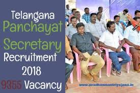 Telangana Panchayat Secretary recruitment 2018