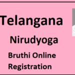 [Apply] Telangana nirudyoga bruthi apply online|registration