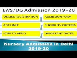 ews/dg admission 2019-20