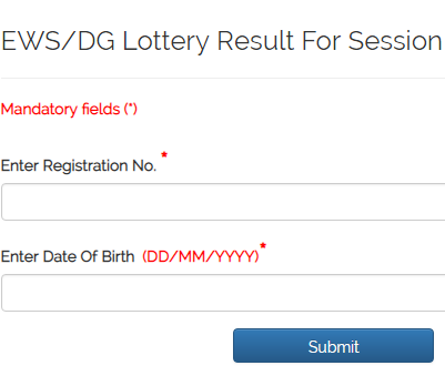 [second list] EWS/DG Result 2019-20|ews nursery Result check online