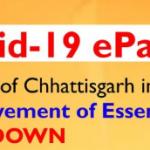 CG Covid 19 E-Pass Registration online|covid 19 e pass chhattisgarh