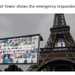 The Eiffel Tower displays images of nurses, doctors and essential workers: For pay tribute to them