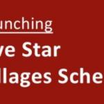 Five Star Village scheme|ensure 100% rural coverage of postal schemes