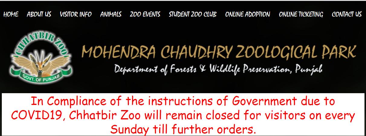 Chhatbir zoo online Ticket Booking