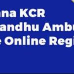 KCR Apathbandhu Ambulance Scheme 2021|Online Registration