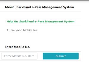 Jharkhand E pass ONLINE