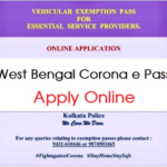 """West Bengal Police E Pass""""@ coronapass west bengal police org"""
