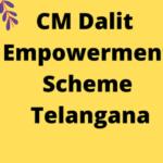 [Apply] CM Dalit Empowerment Scheme 2021 Online Application Form